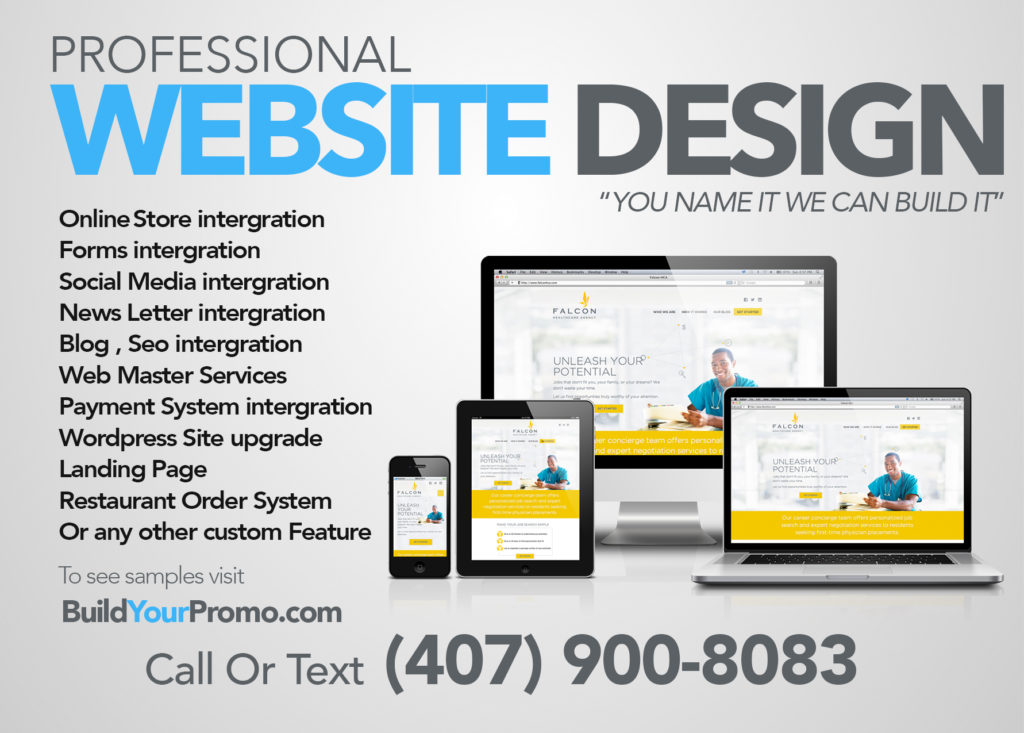 Build Your Promo Web Design Packages
